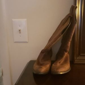 Authentic leather Worn cowgirl boots